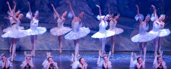 moscow ballet ballerinas with little snowflakes