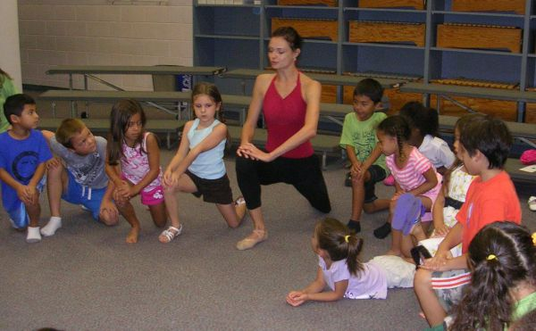 anastasia working with children