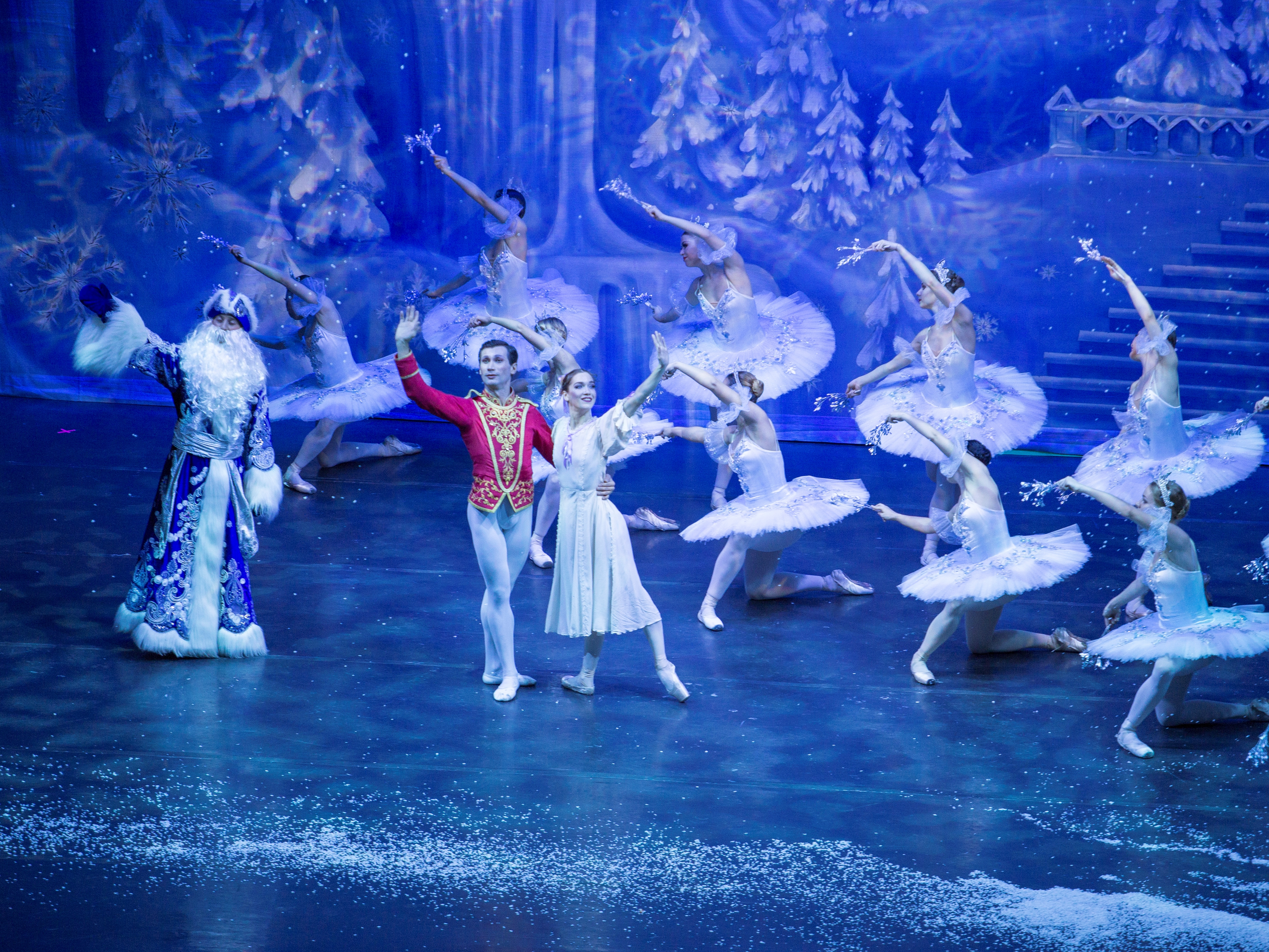 11 Russian Father Christmas and dancers in the Great Russian Nutcracker