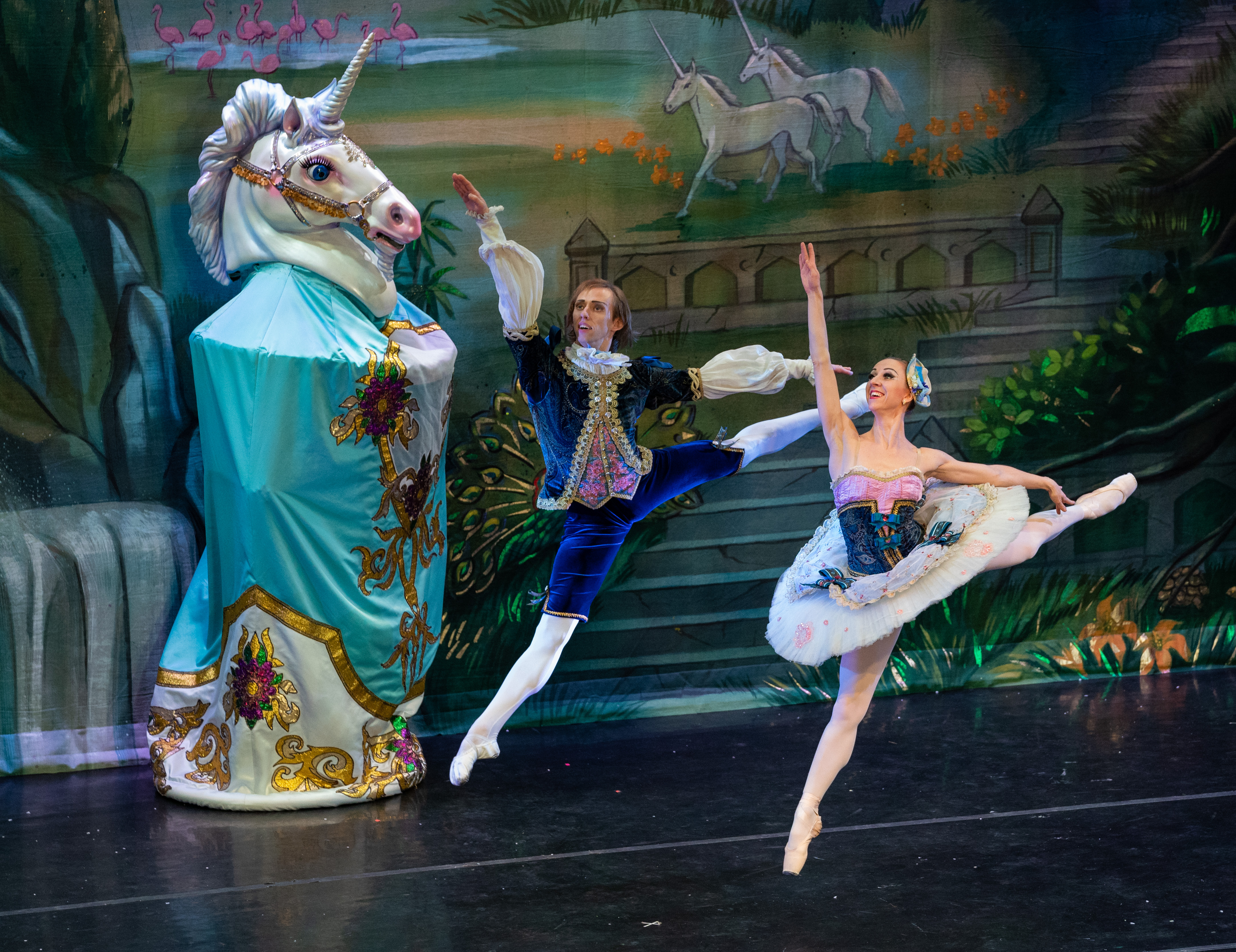 Moscow Ballet's French Variation with 10-ft tall Unicorn Puppet