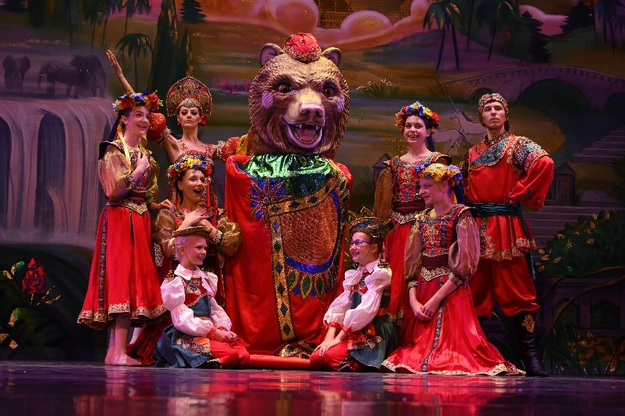 Dance with Us students and the Russian Bear of Strength