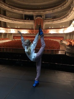 Prima Ballerina Svetlana Bedmenko warming up at the Mariinsky Theatre