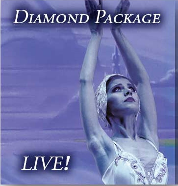 See a live stream performance of Dying Swan and e-Meet a Moscow Ballet artist with the Diamond Package