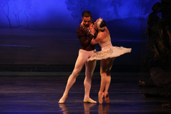 ekaterina bortiakova and mikhail mikhailov in moscow ballet's swan lake