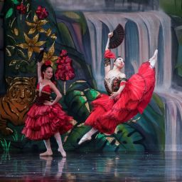 Local children dance alongside Moscow Ballet professionals in the Great Russian Nutcracker