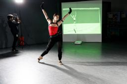 Ballerina Anna dances at ArtCenter's Motion Capture work session