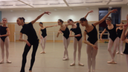 Students audition (bottom) and rehearse (top) for the Great Russian Nutcracker