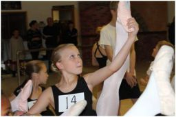 "Students audition to be a part of Moscow Ballet's ""Dance with Us"" program"