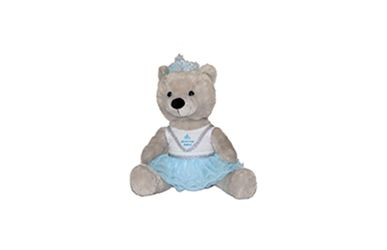 'Snowflake' Gray Plush Bear