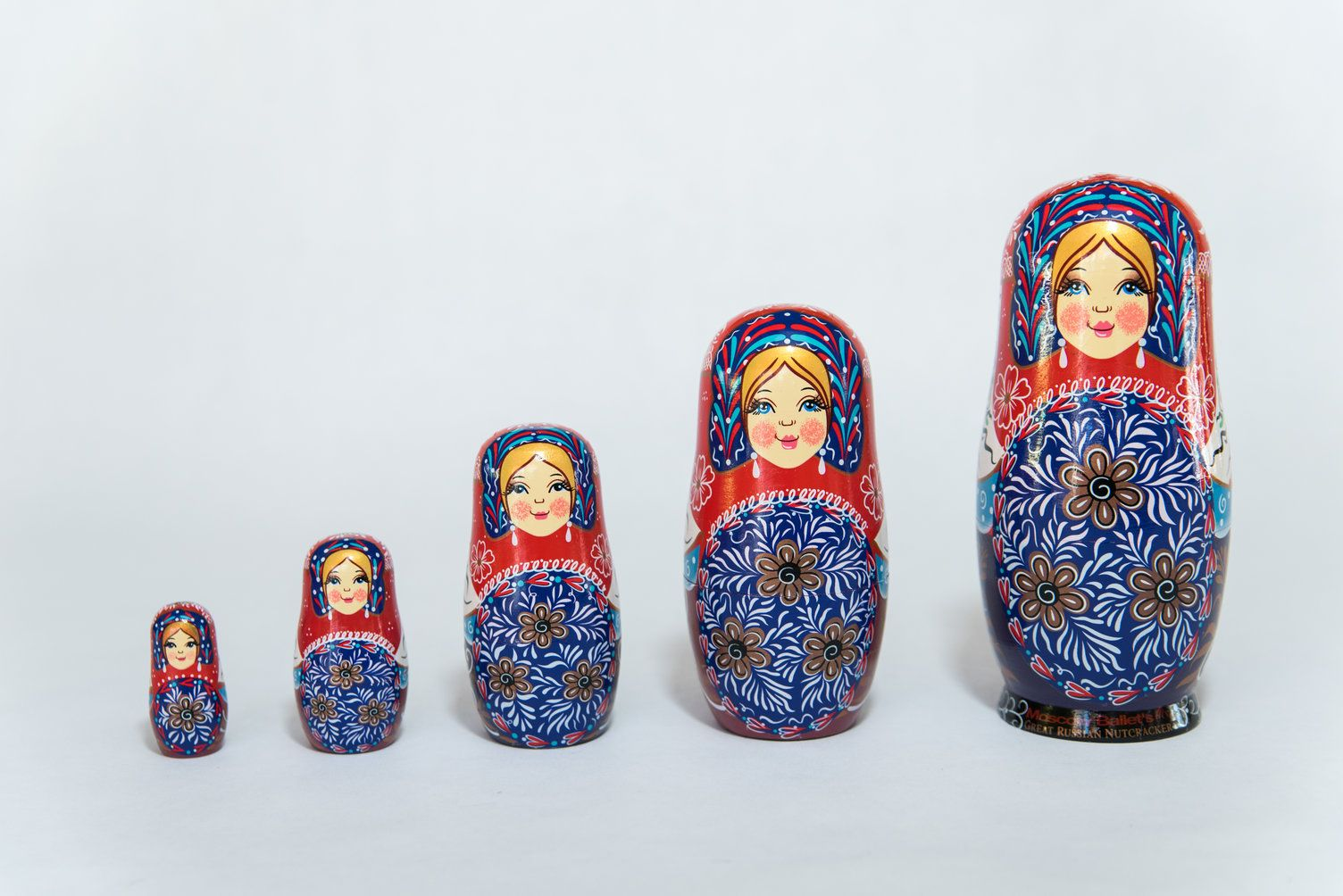 A Moscow Ballet Original Floral Nesting Doll